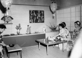 Japanese tea ceremony demonstration at Japanese Tea House display