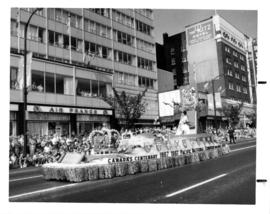 Pacific National Exhibition Canadian Centenary float in 1967 P.N.E. Opening Day Parade
