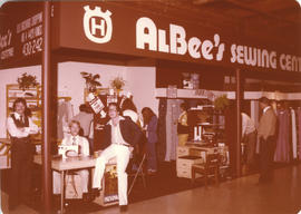 Albee's Sewing Centre display booth