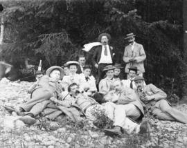 [A picnic on the North Arm of Indian Arm Inlet near Granite Falls]