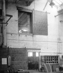 [Interior of B.C. Electric Railway Company car barns]