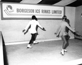 Borgeson Ice Rinks sample ice surface with figure skaters