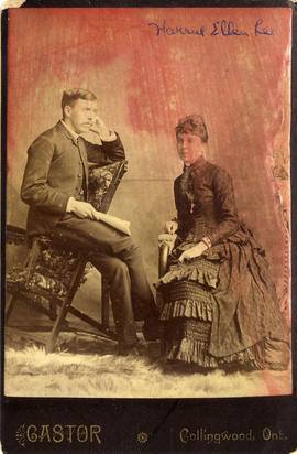 Portrait of Alexander Godfrey and Harriet Ellen Lee Godfrey