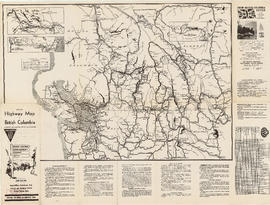 Official highway map of British Columbia, northern Washington, Idaho and Montana