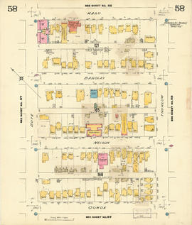 Plate 58 [Thurlow Street to Haro Street to Bute Street to Comox Street]