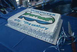 Vancouver City of the Century 99th birthday cake