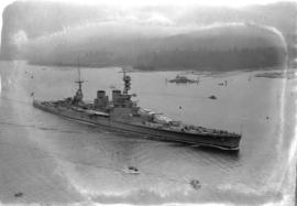 "[H.M.S. ""Repulse"" entering Vancouver Harbour]"