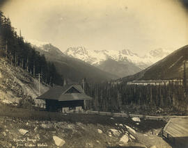 Hermit Range from Glacier Hotel [in the Selkirk Mountains]