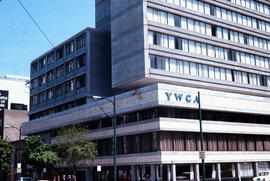 [View of the] YWCA Building [at 580 Burrard Street,] Burrard and Dunsmuir