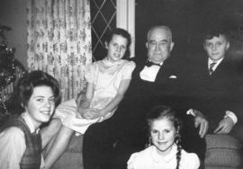 [Major J.S. Matthews and his four great-grandchildren]